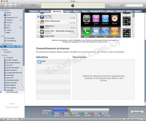 File Sharing: Обмен файлами в iTunes 9 1 1 | Новости
