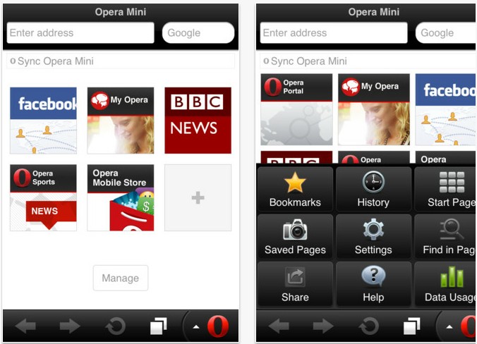 Free Download Opera mini for Android PC , Windows