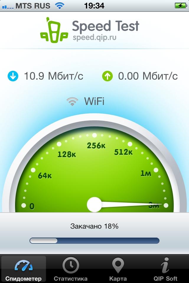 SpeedTest скорость интернета, тест скорости - спидтест